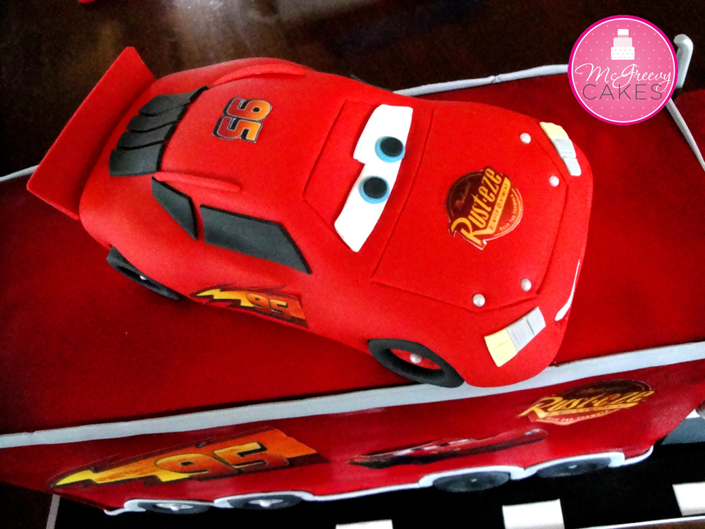 Jacksons Lightening McQueen Mack Cake McGreevy Cakes