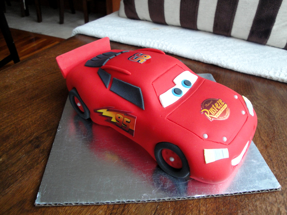 Lightening McQueen Cars Cake Tutorial McGreevy Cakes