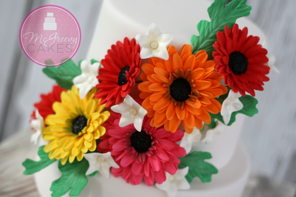 wedding cake flowers gumpaste tutorials gumpaste or fondant gerber tutorial mcgreevy cakes 22676