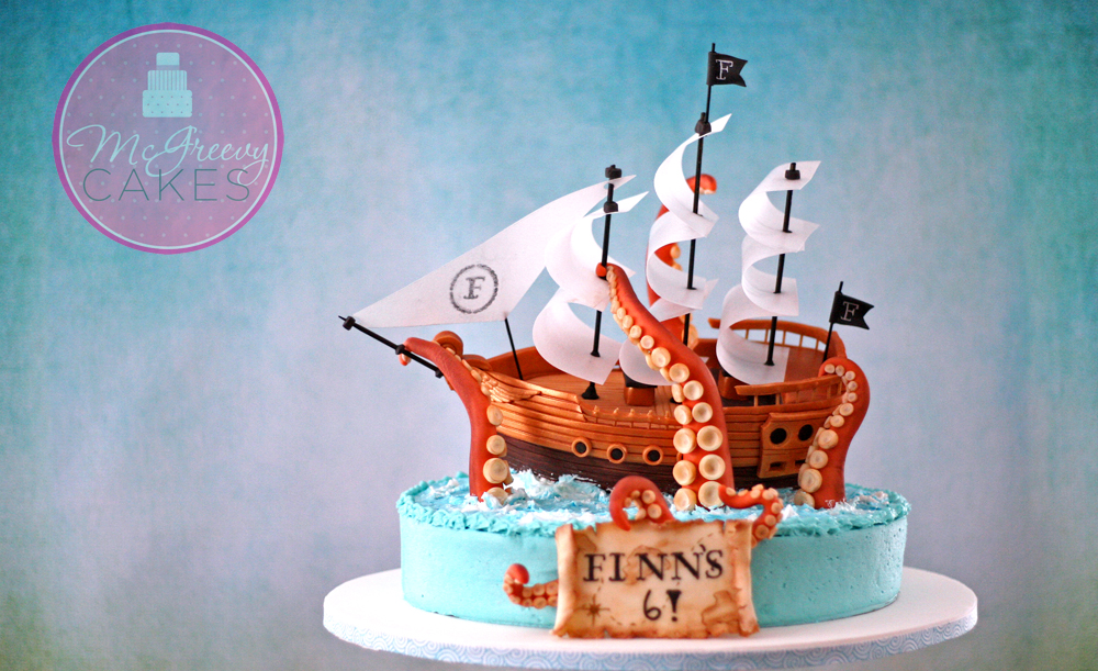 The Making of A Pirate Ship Cake McGreevy Cakes