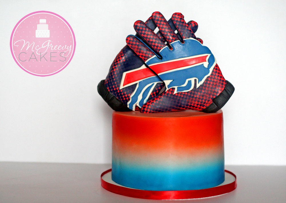 Nfl Bills Gloves Cake Mcgreevy Cakes