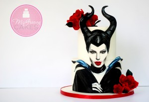Painting an Edible Maleficent (With a Free Video Tutorial!)
