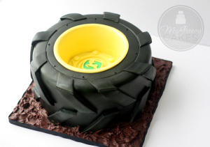 Tractor Tire Cake, with a Free Video Tutorial!