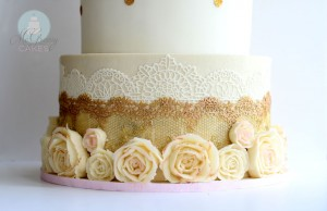 Gold, Wafer Paper, and a little Bit 'o Buttercream