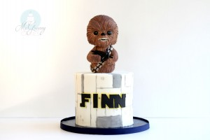 How to Make a Simple Chewbacca, Star Wars Cake