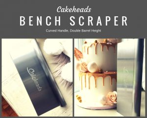 Cakeheads Double Barrel Bench Scraper, Now Available!