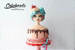 Sculpted, Edible Valentine Girl Bust Cake!