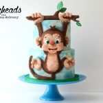 Monkey Cake With Airbrushed Clouds