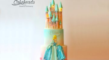 Princess Cake With Castle Topper!