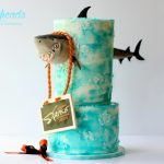 Shark BUSTING Through the Cake! (And an Easy Water Effect Finish)